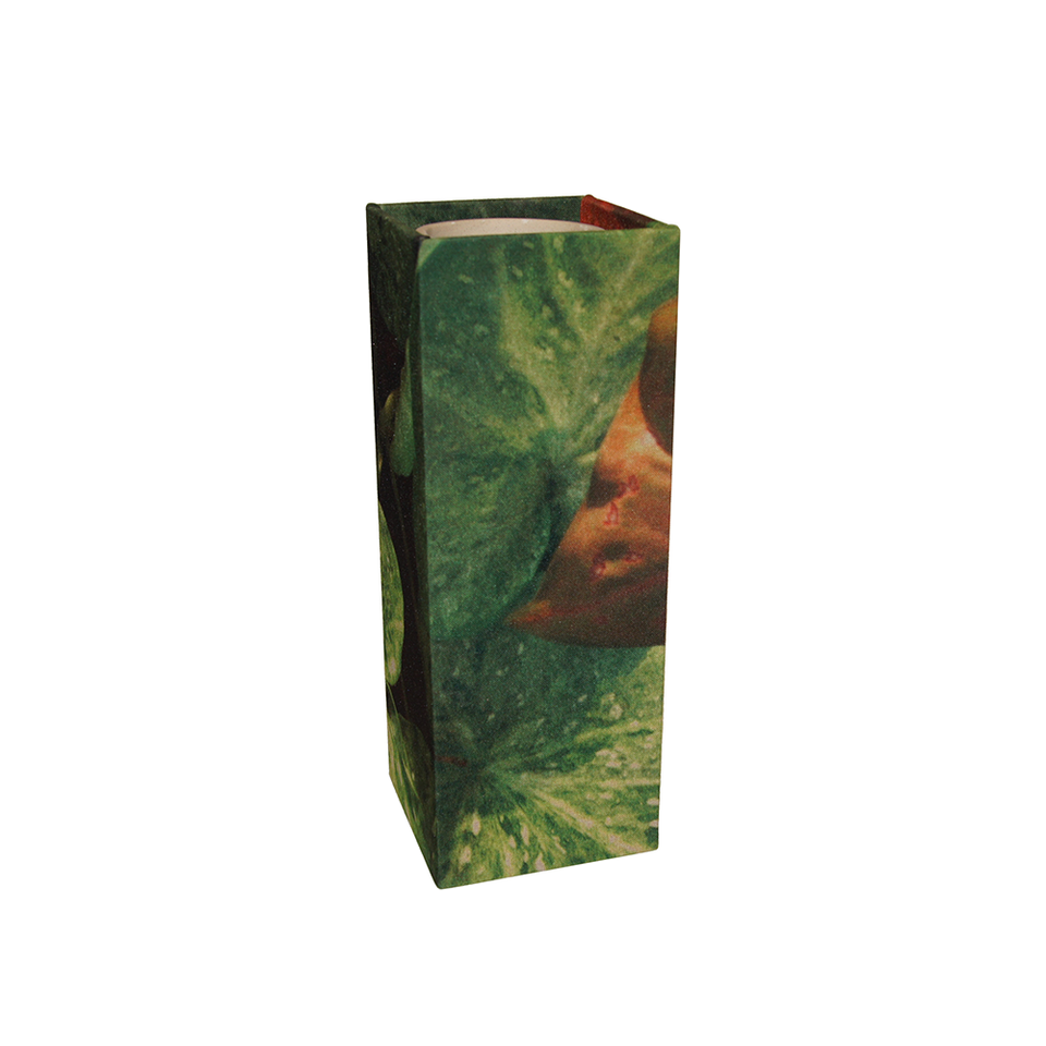 GILLES CAFFIER Polyester Cubic Vase Large - Leaves | the OBJECT ROOM