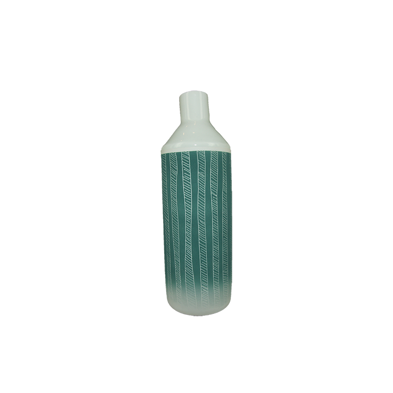 ISMAËL CARRÉ Large Bottle Vase - Green | the OBJECT ROOM