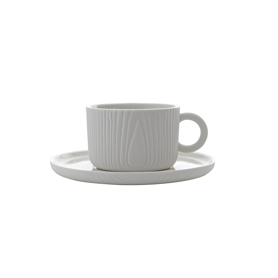 TOAST LIVING MU Cup & Saucer 180ml - White