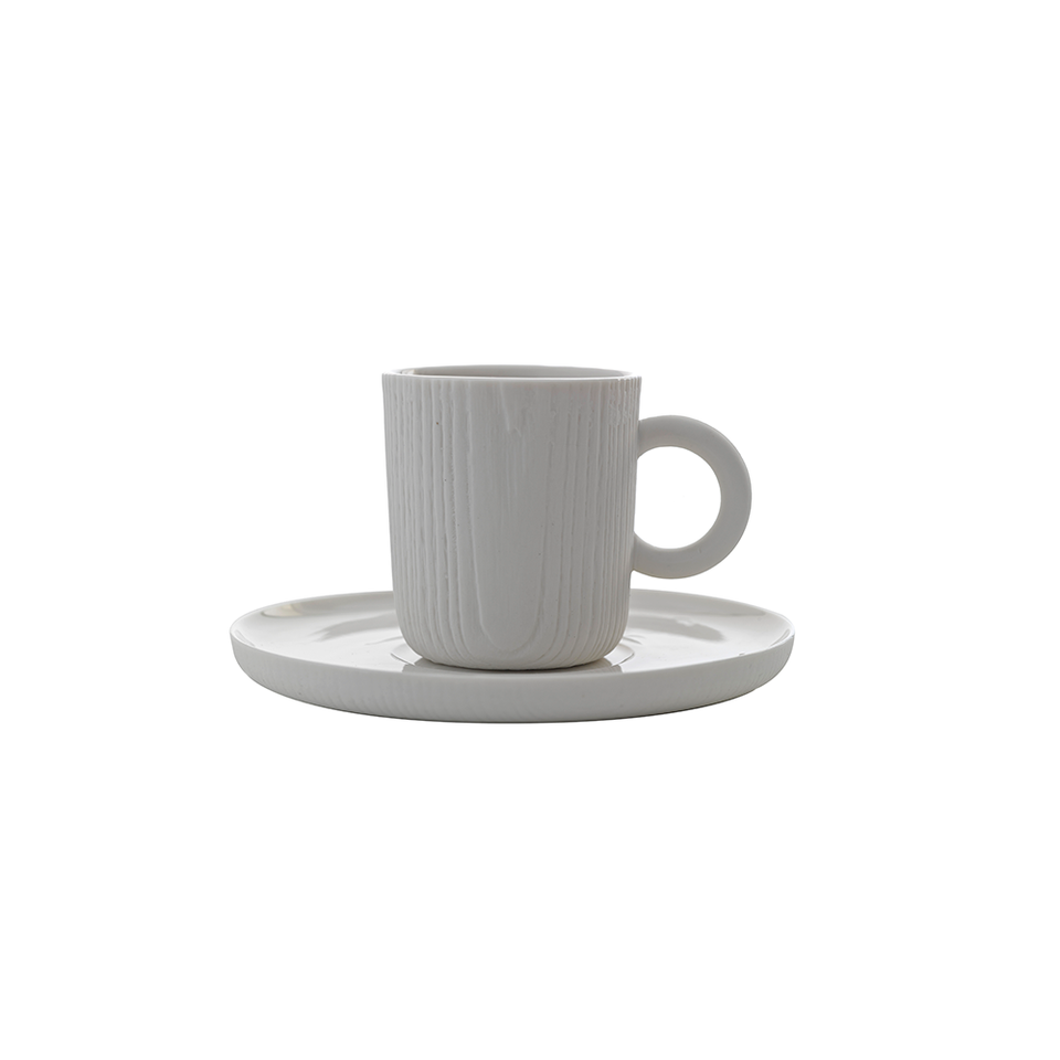 TO MU Espresso Cup & Saucer 80ml - White