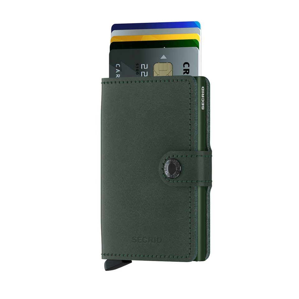 SC Miniwallet Leather - Original Green