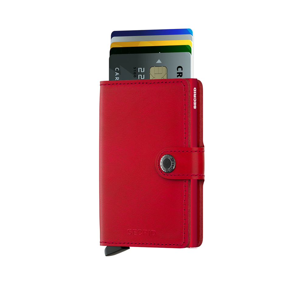 SECRID Miniwallet Leather - Original Red-Red - the OBJECT ROOM