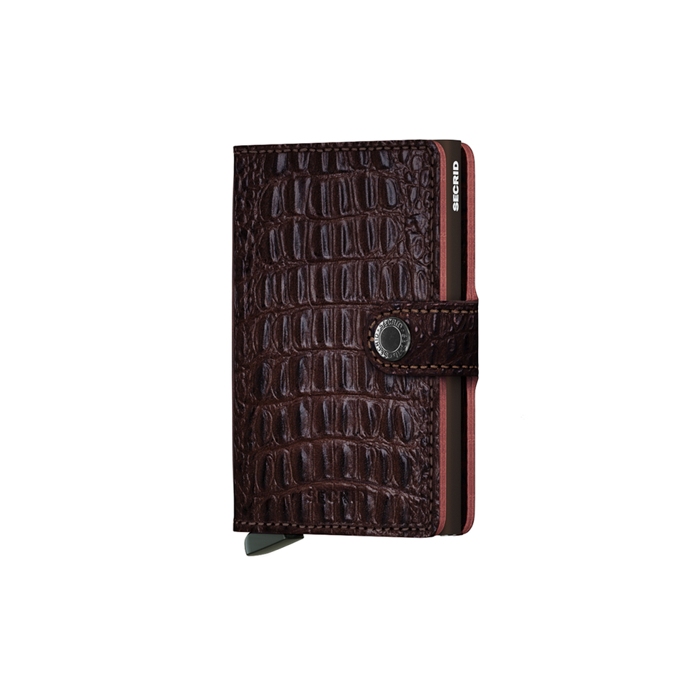 SECRID Miniwallet Leather - Nile Brown | the OBJECT ROOM
