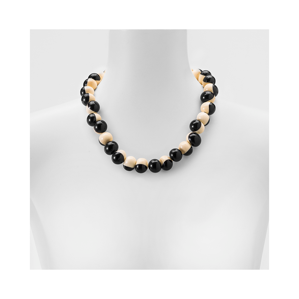 MARINA E SUSANNA SENT Glass Necklace - Macchia Ivory Black | the OBJECT ROOM