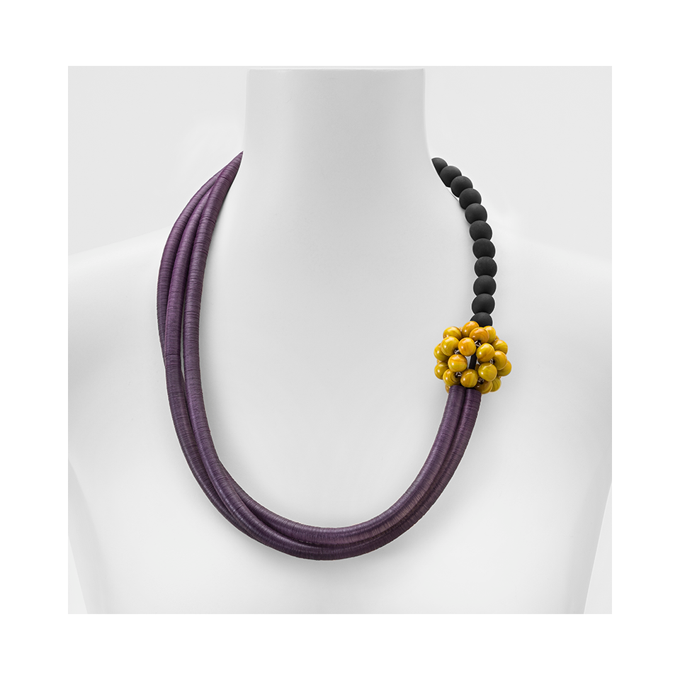MARINA E SUSANNA SENT Glass Necklace - Mora Violet Mustard | the OBJECT ROOM