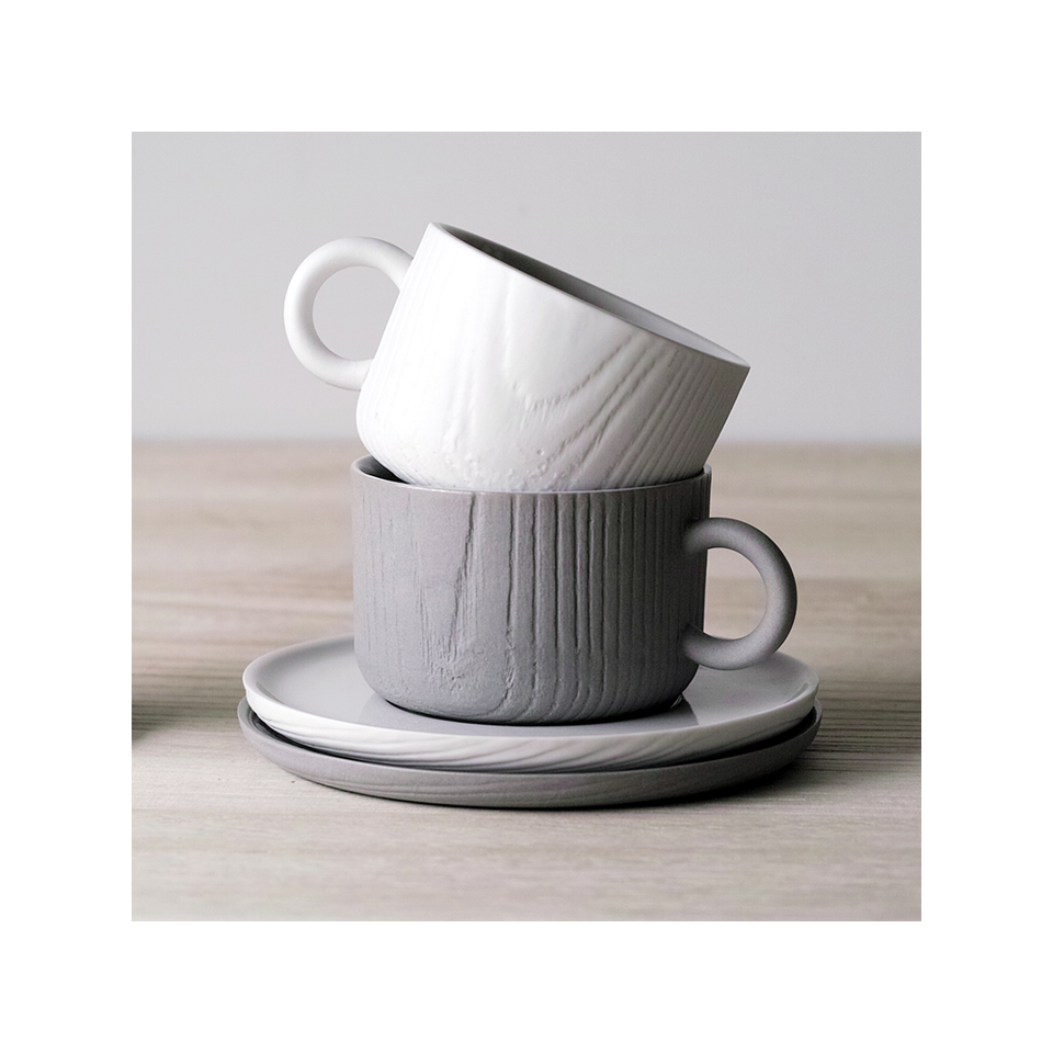 TO MU Cup & Saucer 180ml - White