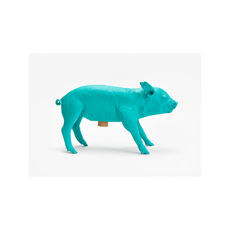 AREAWARE Bank in the Form of a Pig - Teal | the OBJECT ROOM