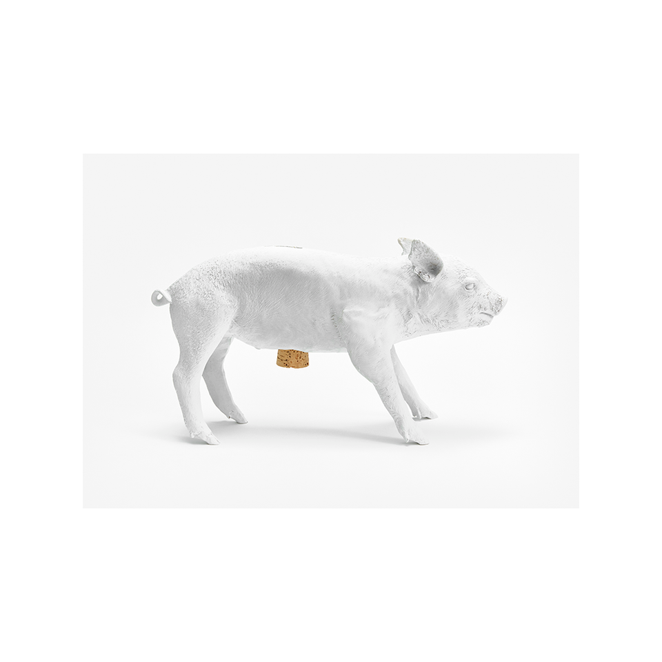 AREAWARE Bank in the Form of a Pig - Matte White | the OBJECT ROOM