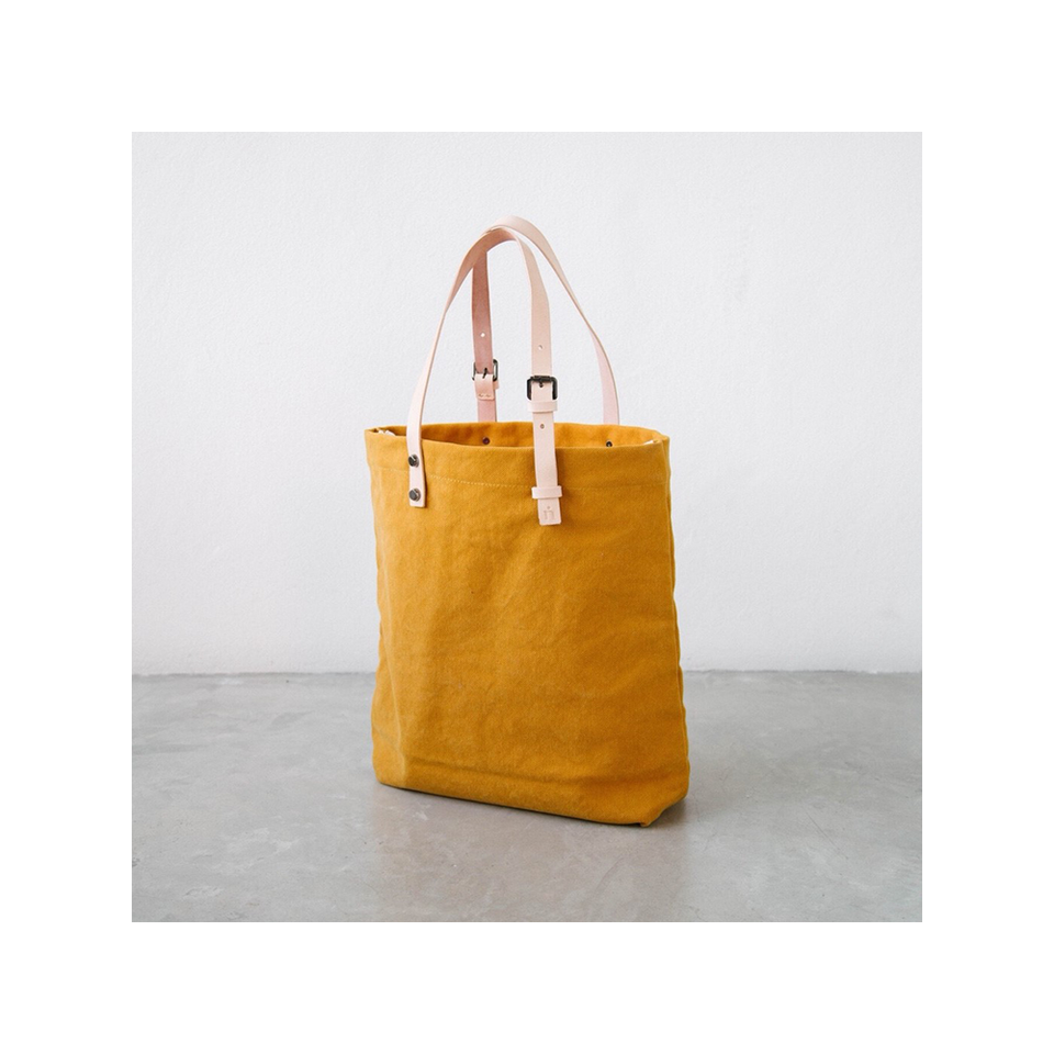 NIN LIFESTYLE NL The Steinbeck Tote - Saffron Yellow | the OBJECT ROOM