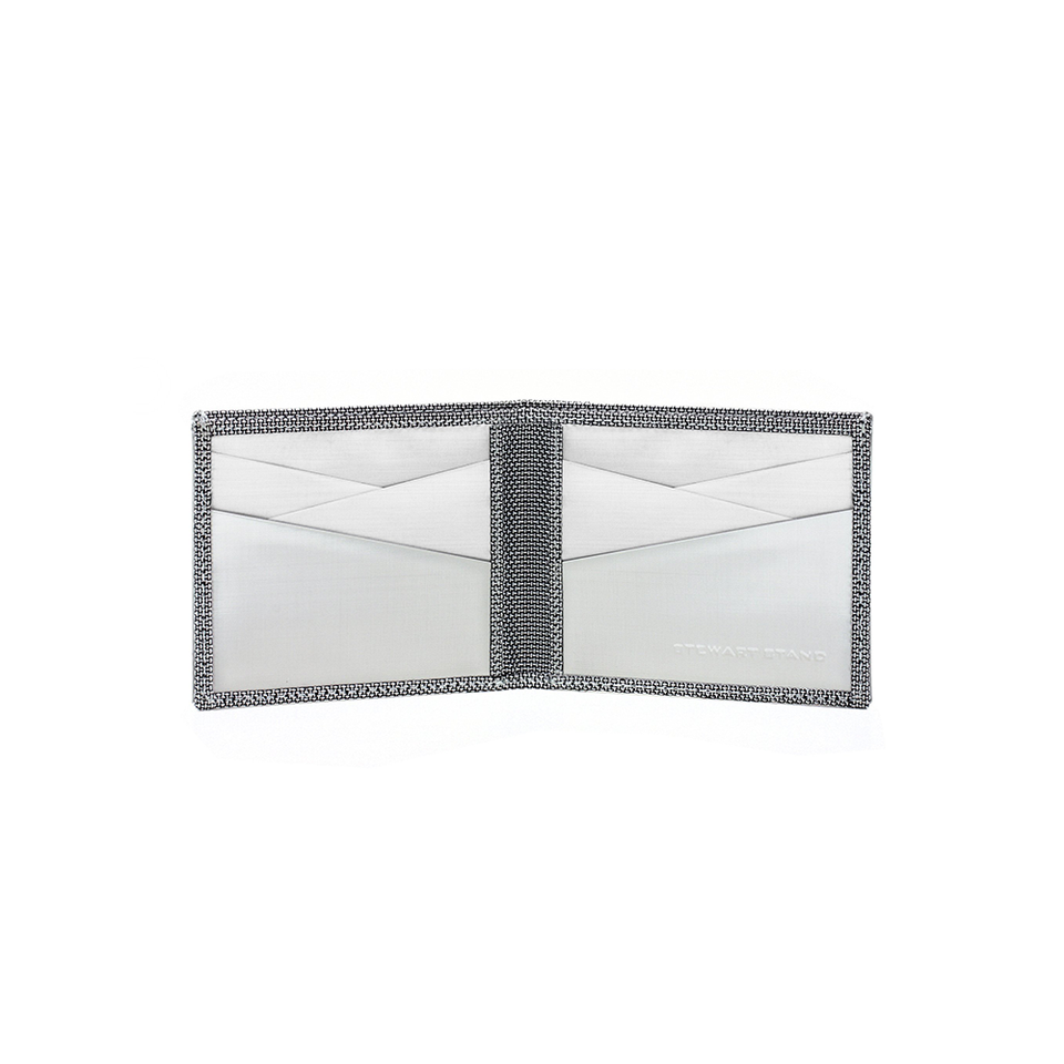 STEWART/STAND Stainless Steel Wallet - Bill Fold Checkered Silver - the OBJECT ROOM