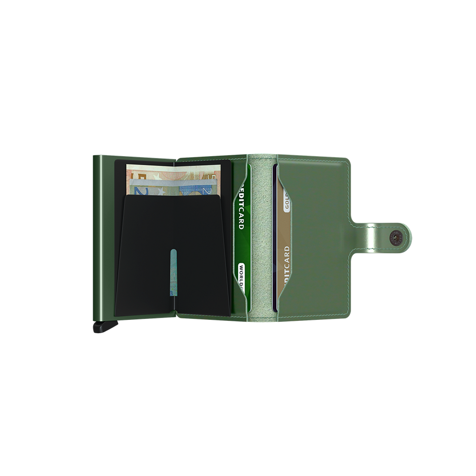 SECRID Miniwallet Leather - Metallic Green | the OBJECT ROOM