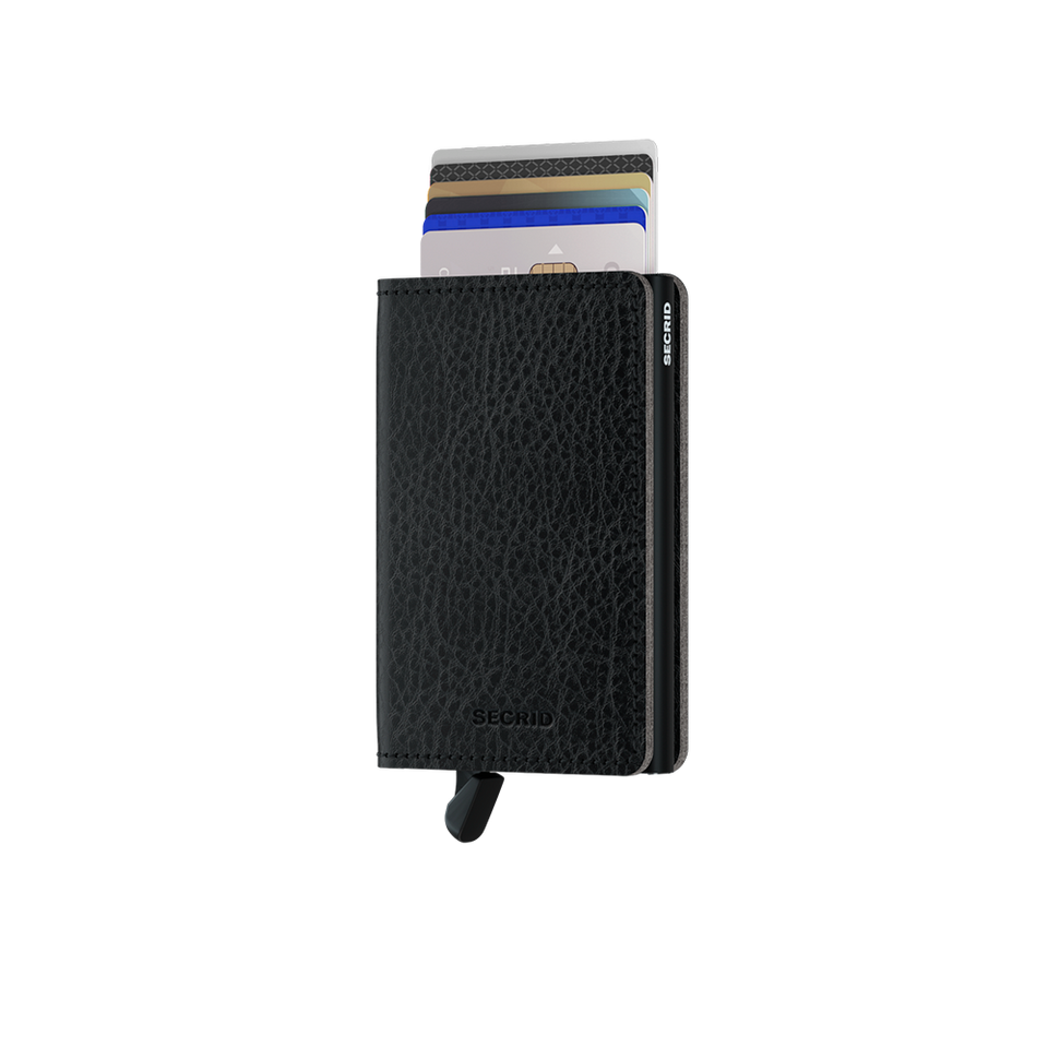 SECRID Slimwallet Leather - Veg Black-Black | the OBJECT ROOM