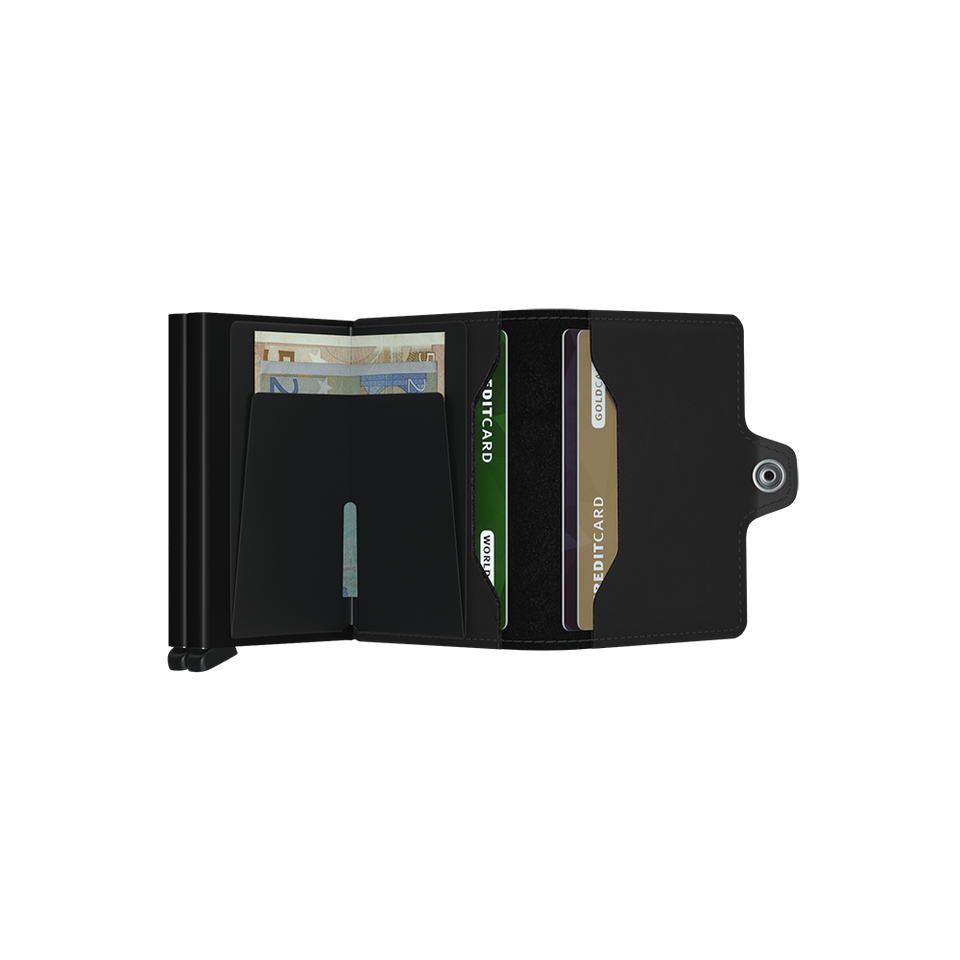 SECRID Twinwallet Leather - Matte Black | the OBJECT ROOM