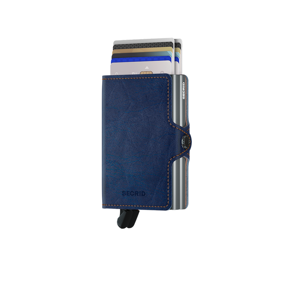 SECRID Twinwallet Leather - Indigo 5 Titanium | the OBJECT ROOM