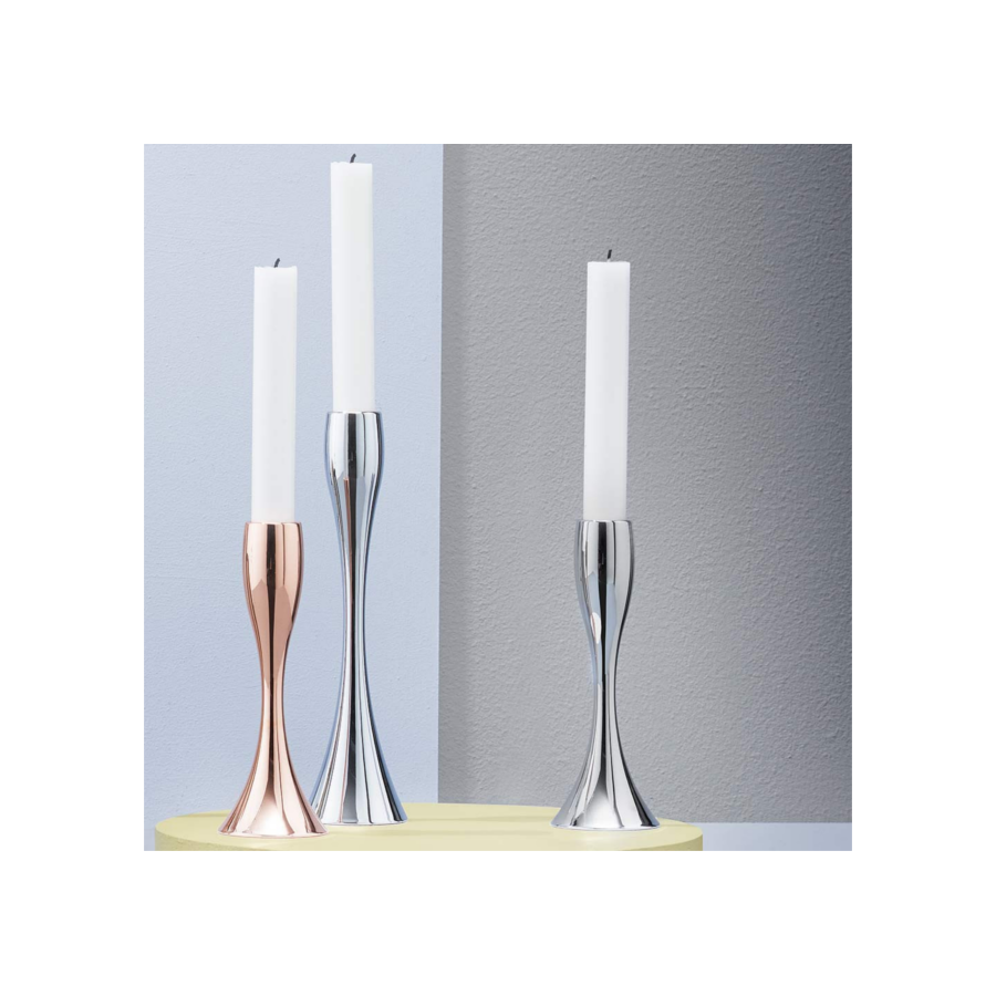 STELTON Reflection Candle Holder 23cm - Mirror | the OBJECT ROOM