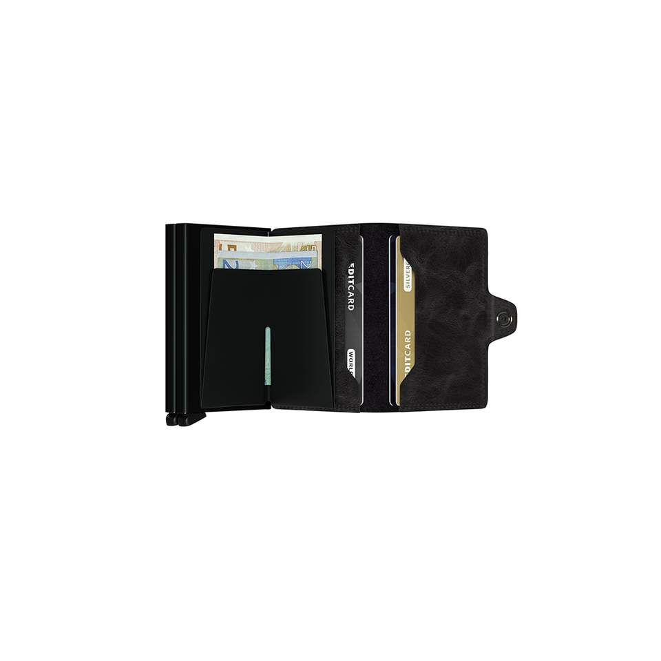SECRID Twinwallet Leather - Vintage Black | the OBJECT ROOM