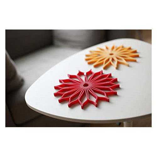 TOAST LIVING Sunflower Trivet - Orange / Black / Red | the OBJECT ROOM
