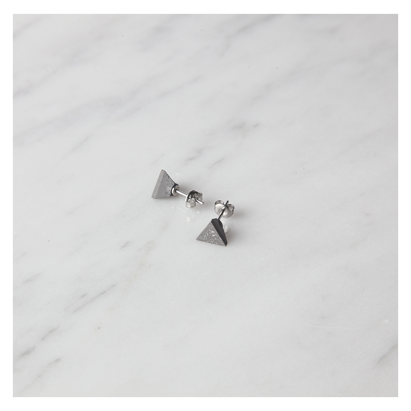 22 DESIGN STUDIO Concrete Earrings - Tetrahedron | the OBJECT ROOM
