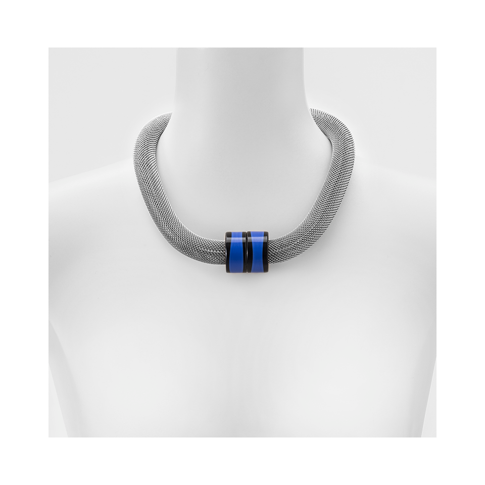 MARINA & SUSANNA SENT Glass Necklace - Twin Mesh Blue | the OBJECT ROOM