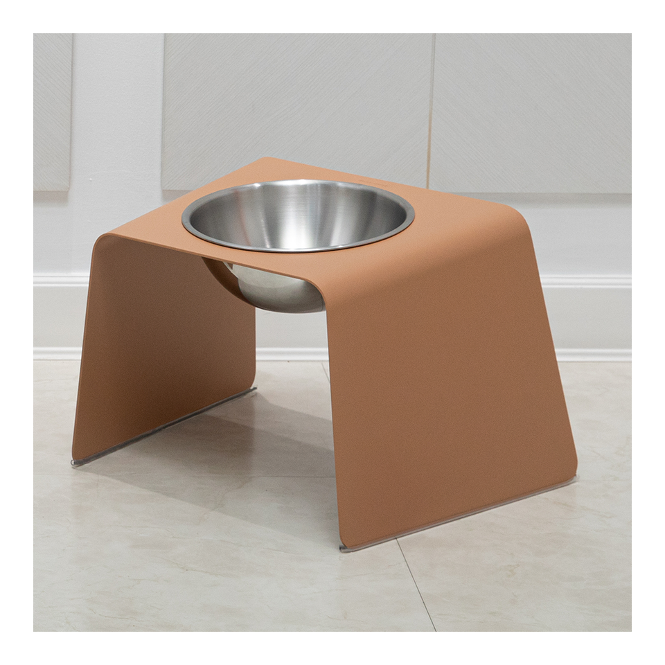 HOWDY HOUNDY Bend Elevated Feeder L - Tanned
