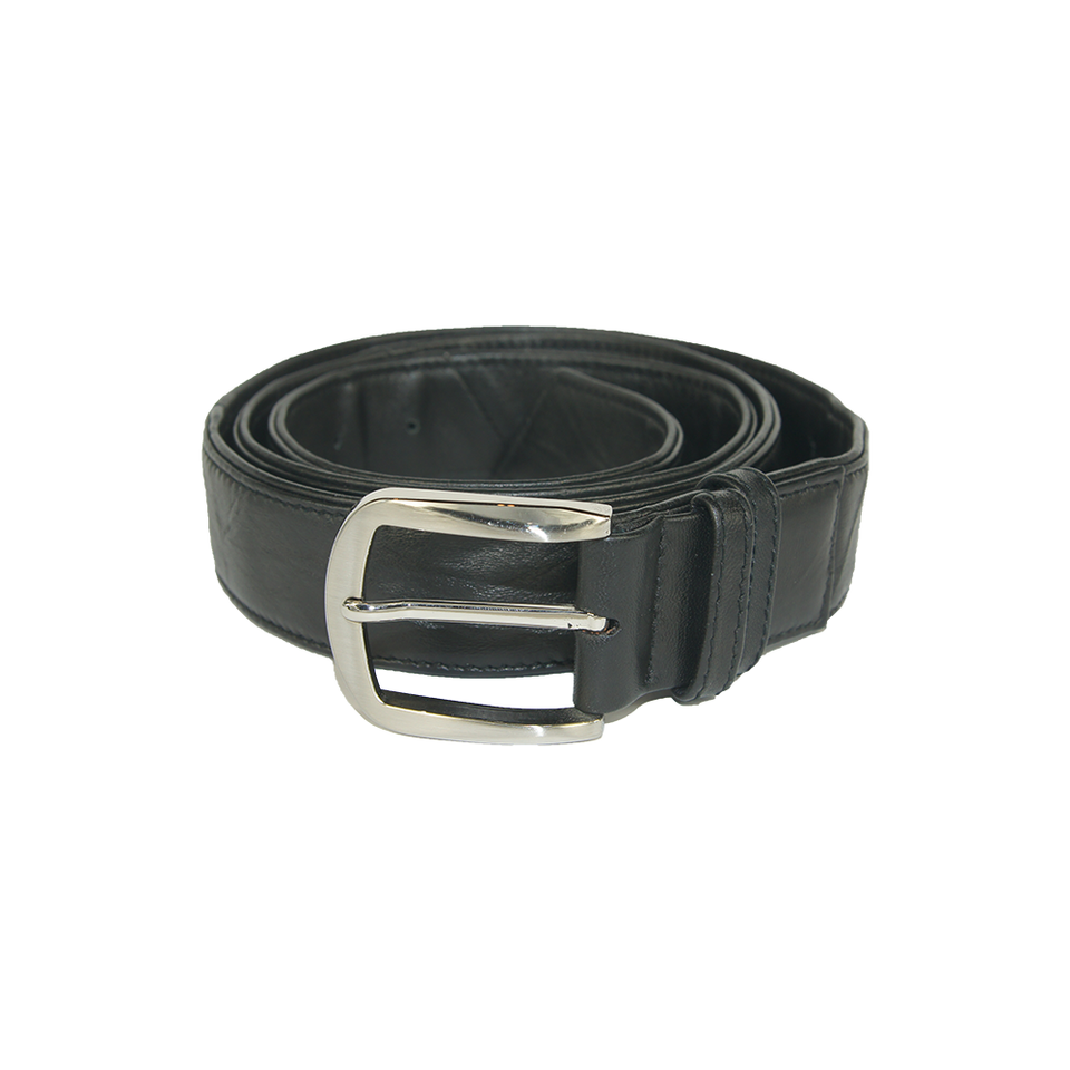 THE REMAKER Leather Belt - Silk Road (Big Buckle) Black | the OBJECT ROOM