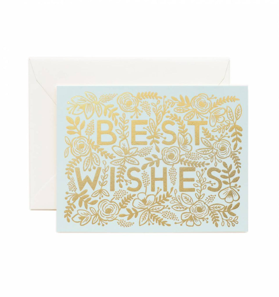 RIFLE PAPER CO. RP Greeting Card - Golden Best Wishes | the OBJECT ROOM