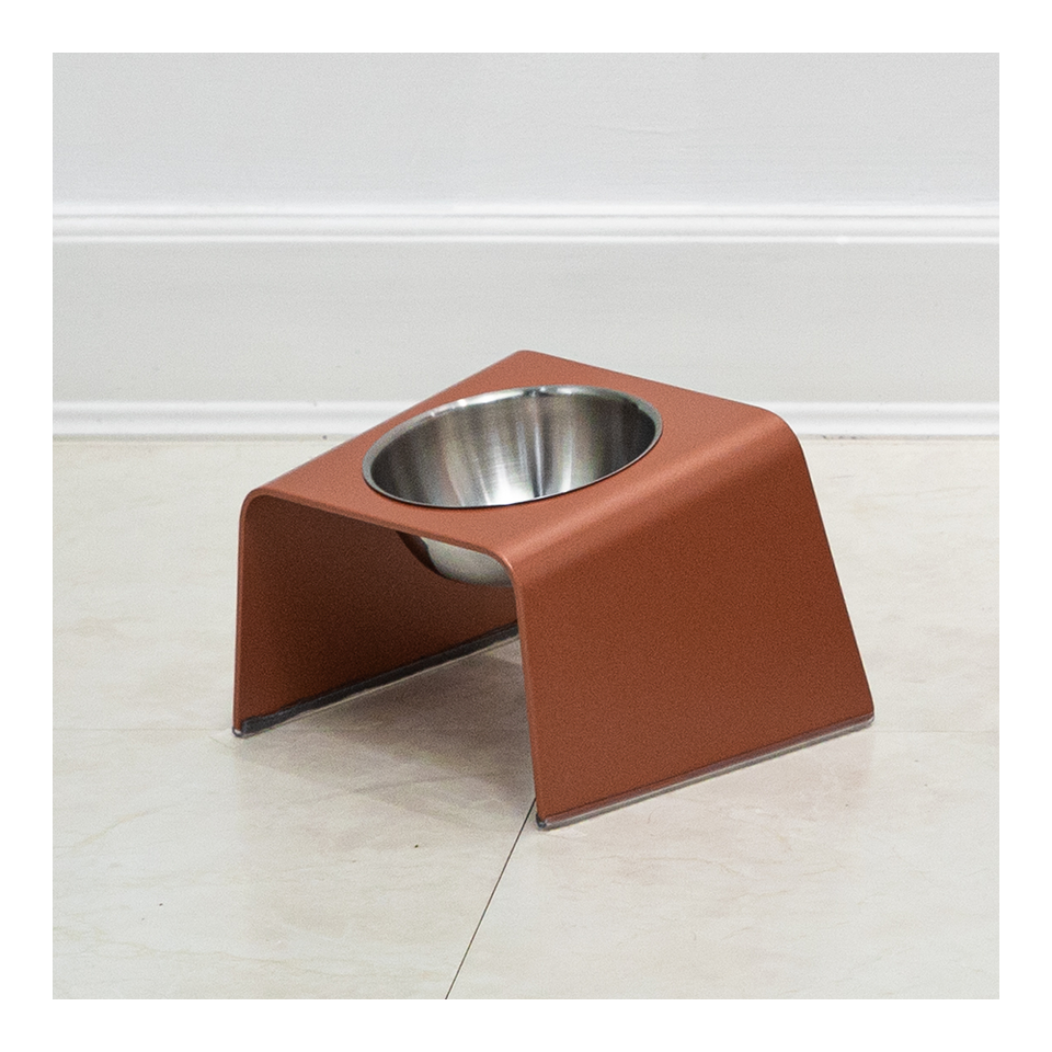 HOWDY HOUNDY Bend Elevated Feeder S - Peach Copper