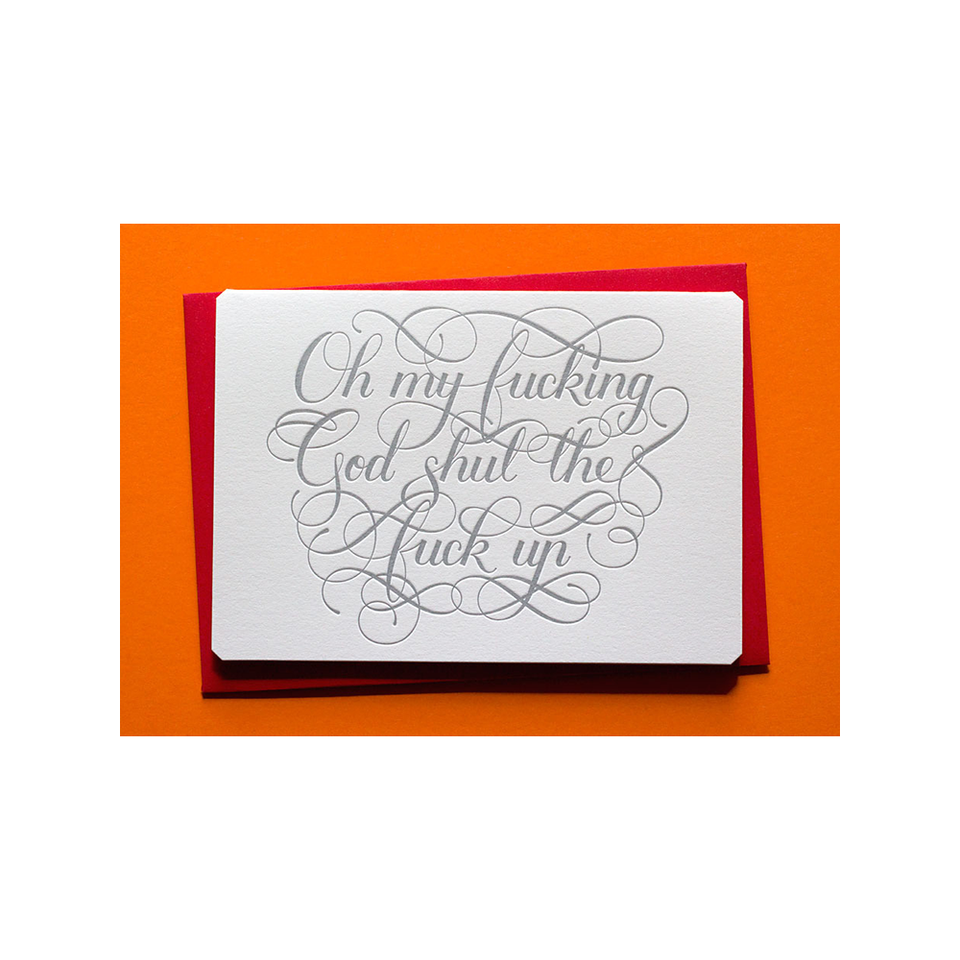 CALLIGRAPHUCK Card - Oh My God - the OBJECT ROOM