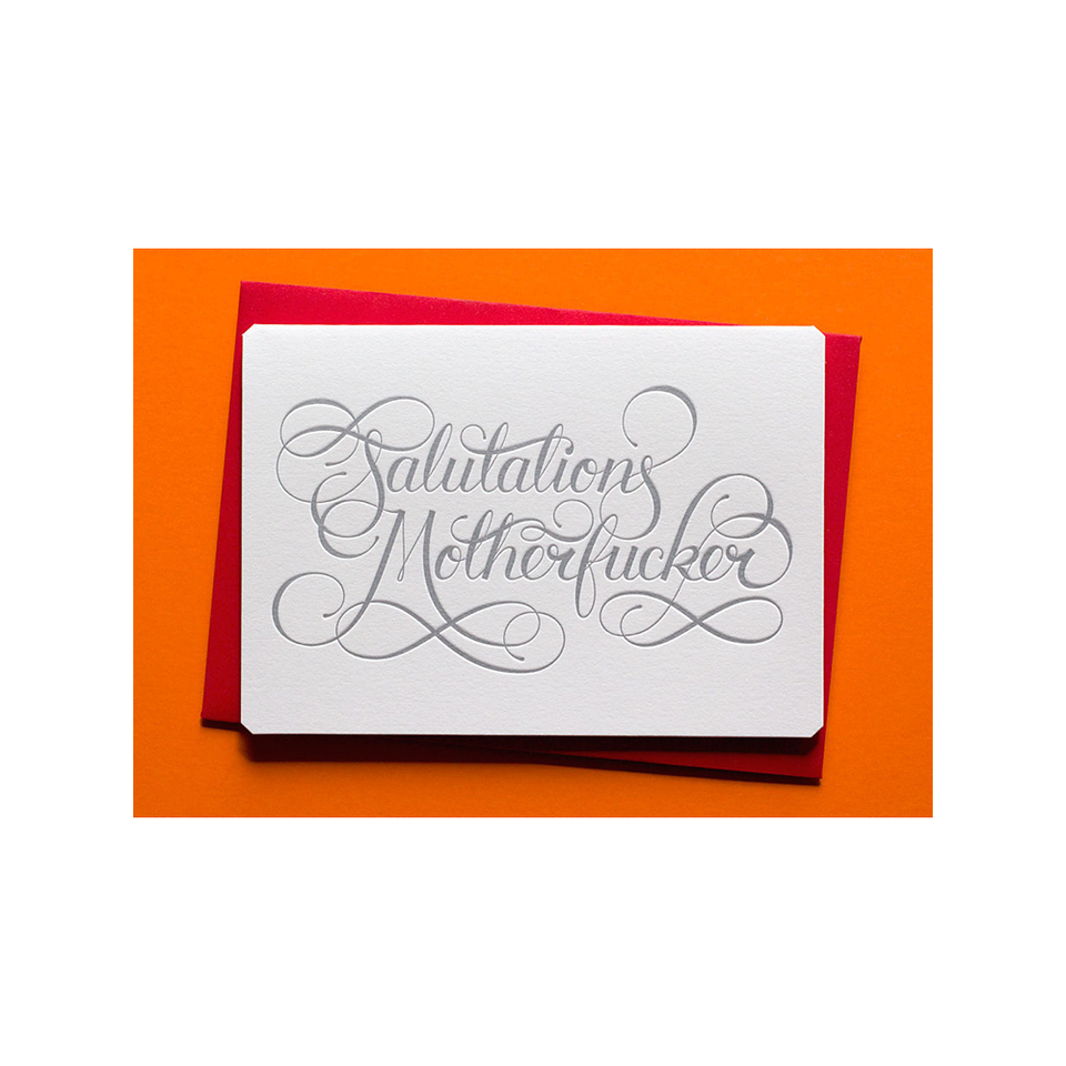 CALLIGRAPHUCK Card - Salutations Motherf*cker - the OBJECT ROOM