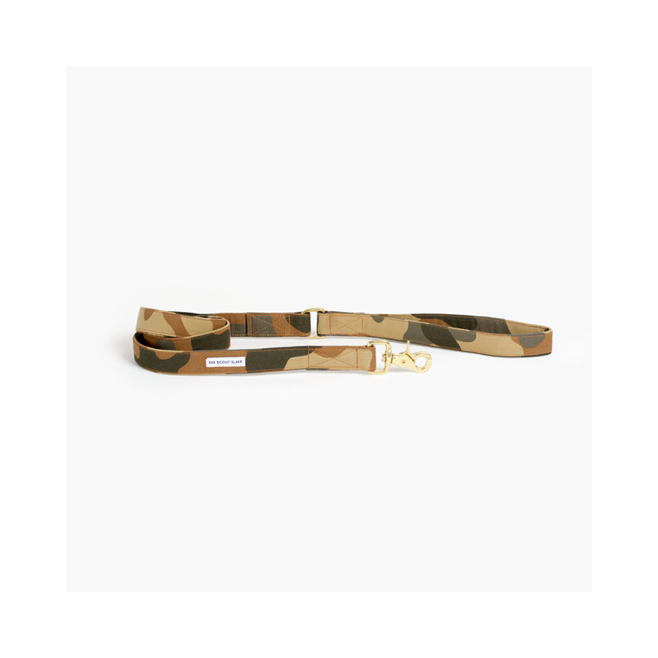 "SEE SCOUT SLEEP Standard Leash 1"" The Scot - Light Camo 