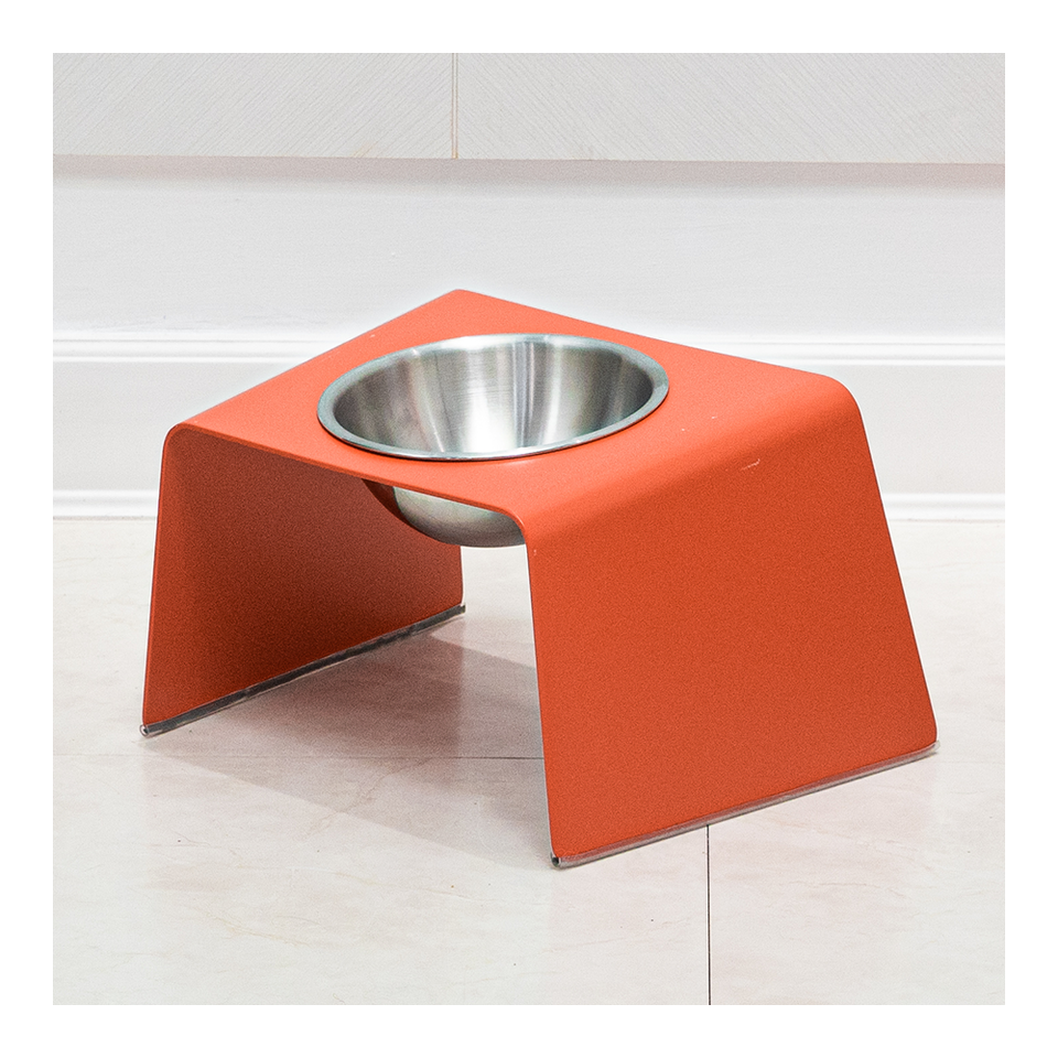 HOWDY HOUNDY Bend Elevated Feeder M - Apple Red