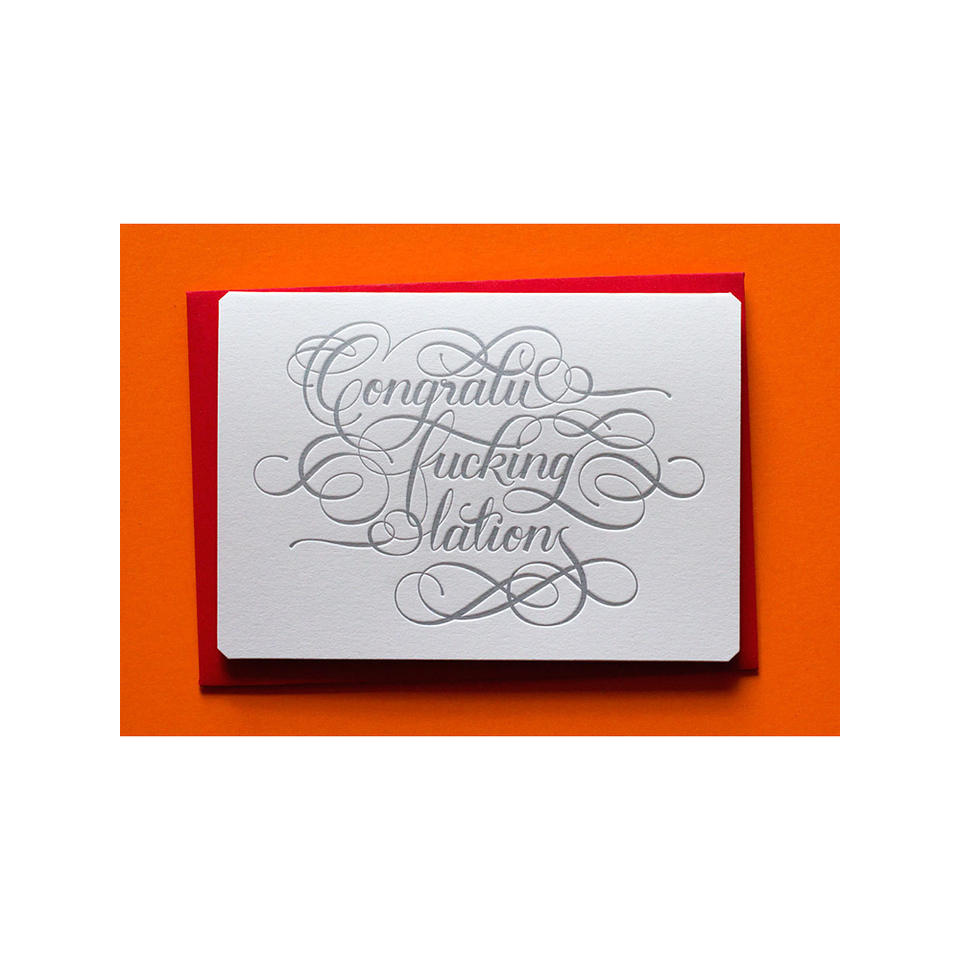 CALLIGRAPHUCK Card - Congratu-f*cking-lations - the OBJECT ROOM