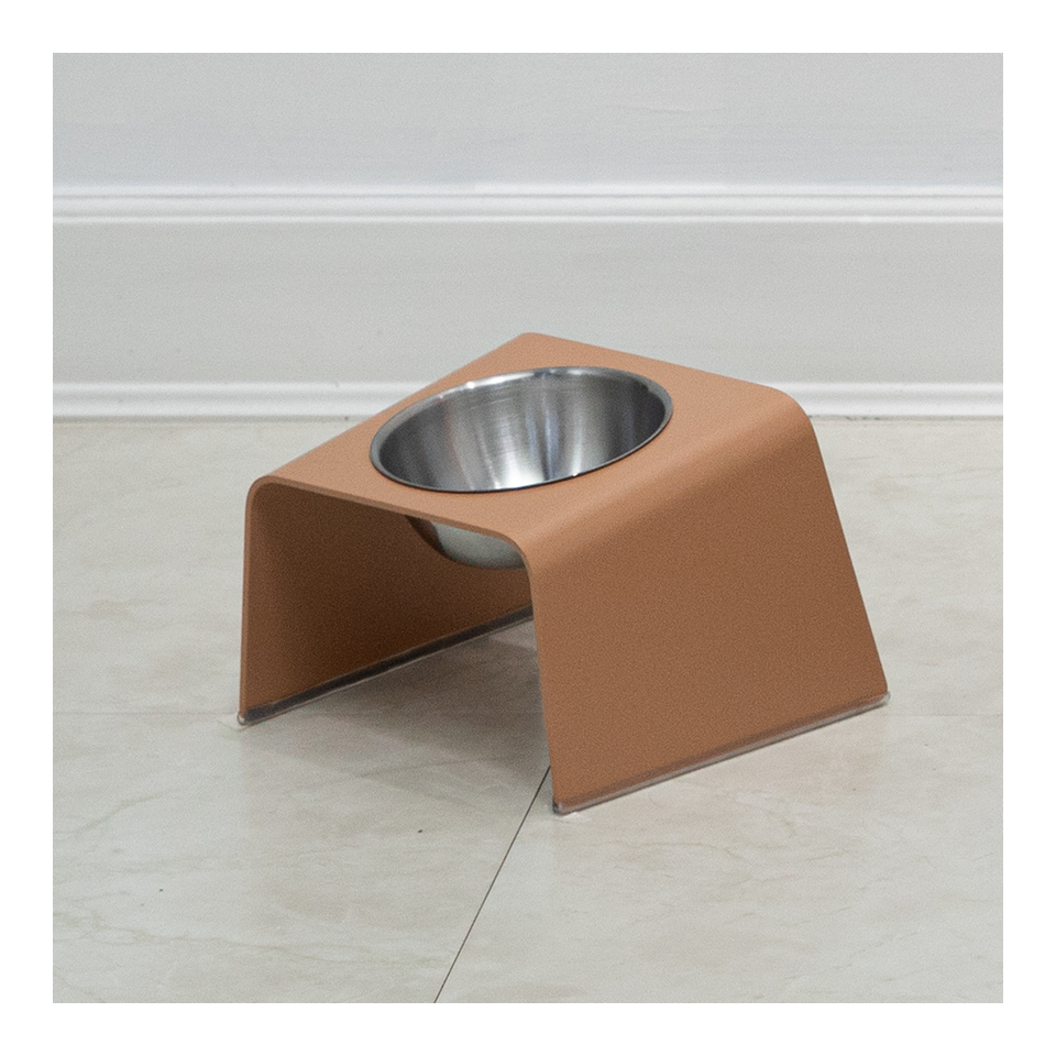 HOWDY HOUNDY Bend Elevated Feeder S - Tanned