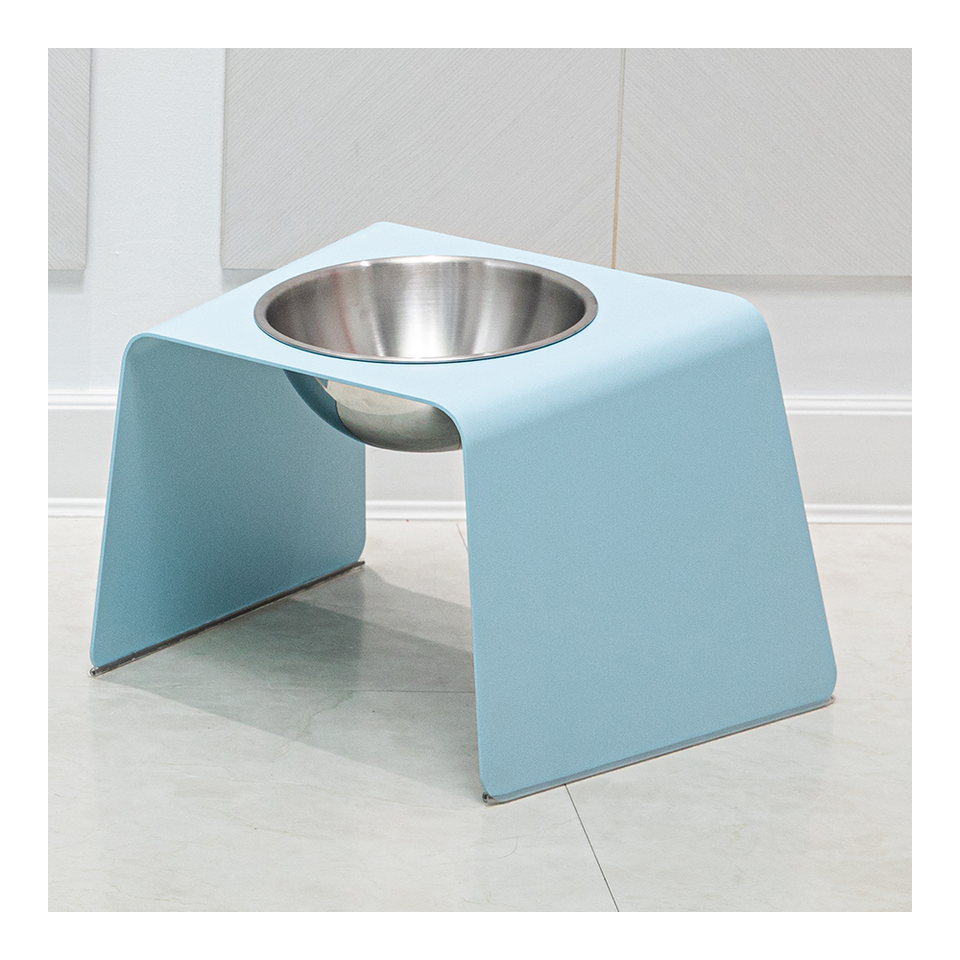 HOWDY HOUNDY Bend Elevated Feeder L - Sky Blue