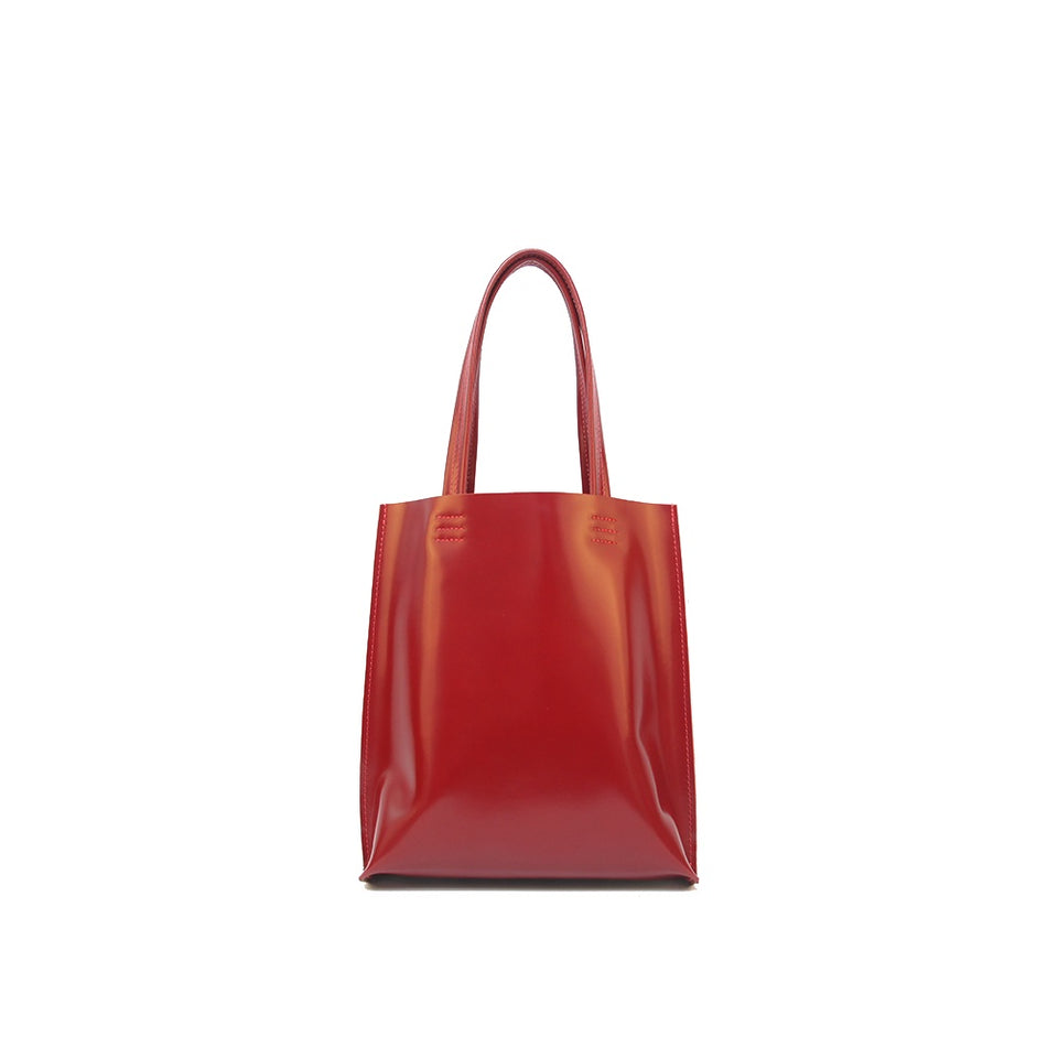 GOODJOB Tote Bag MONO S - Leather Red