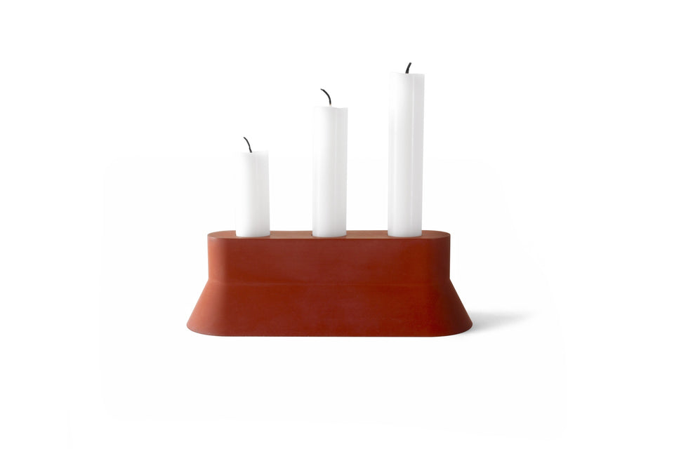22 DESIGN STUDIO Stretch Candle Holder - Brick Red | the OBJECT ROOM
