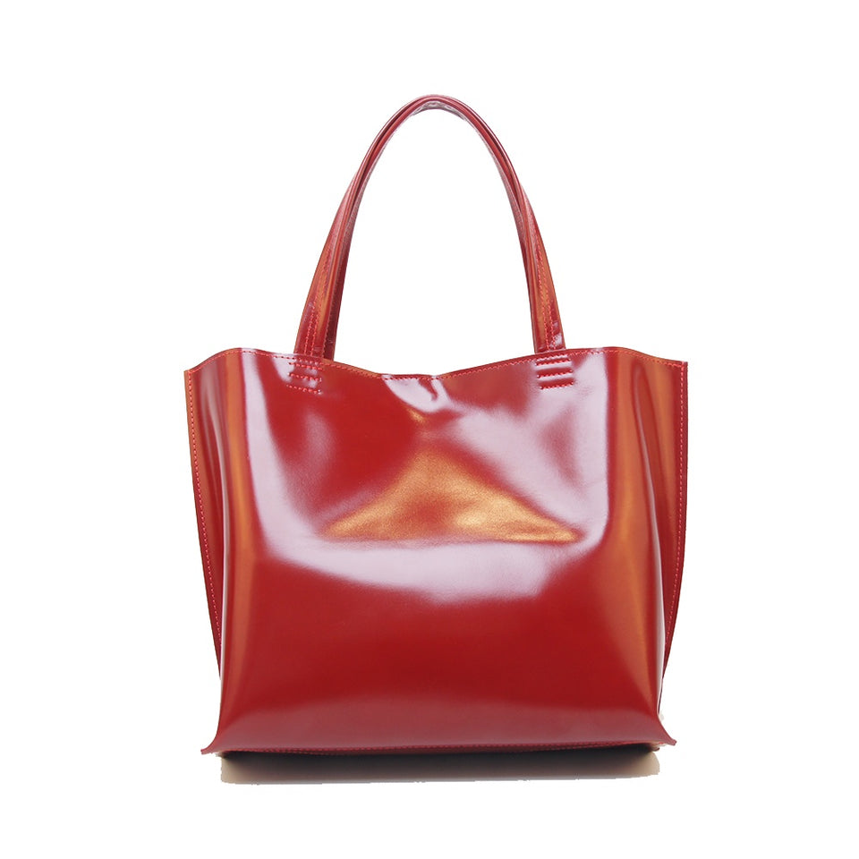 GOODJOB Handbag MONO XL - Leather Red