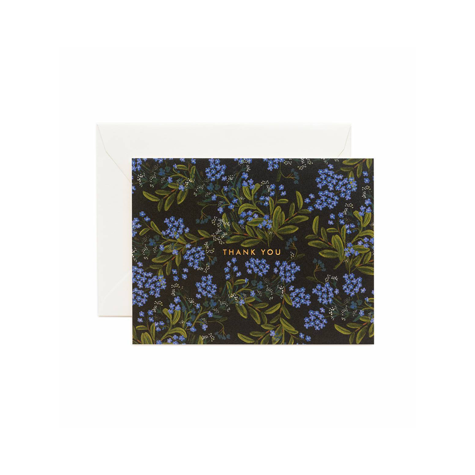 RIFLE PAPER CO. Card - Cornflower Thank You | the OBJECT ROOM