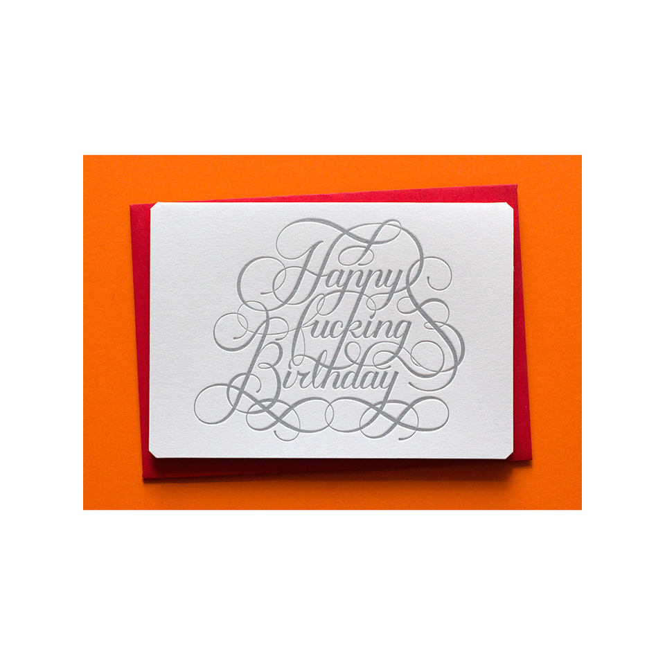 CALLIGRAPHUCK CK Card Happy F*cking Birthday | the OBJECT ROOM