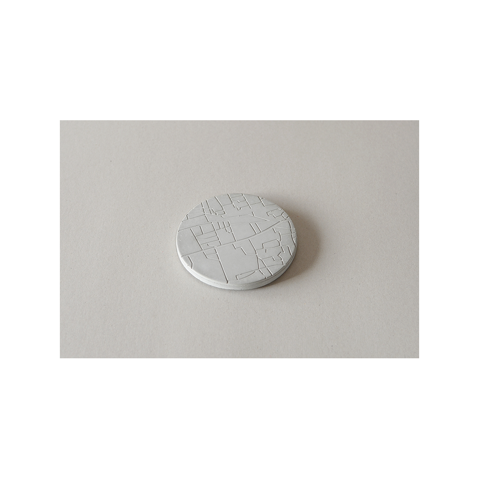 PULL PUSH PRODUCTS PU Map Coaster | the OBJECT ROOM
