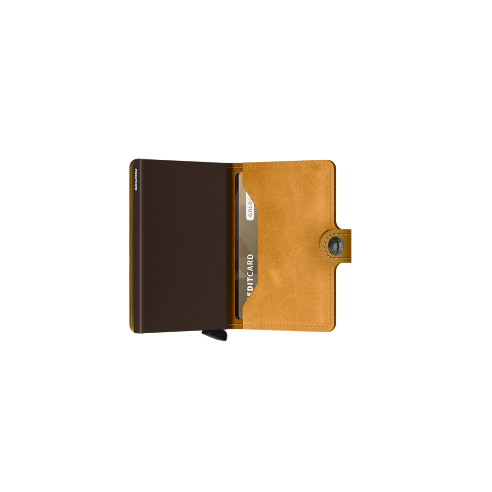 SECRID Miniwallet Leather - Vintage Ochre