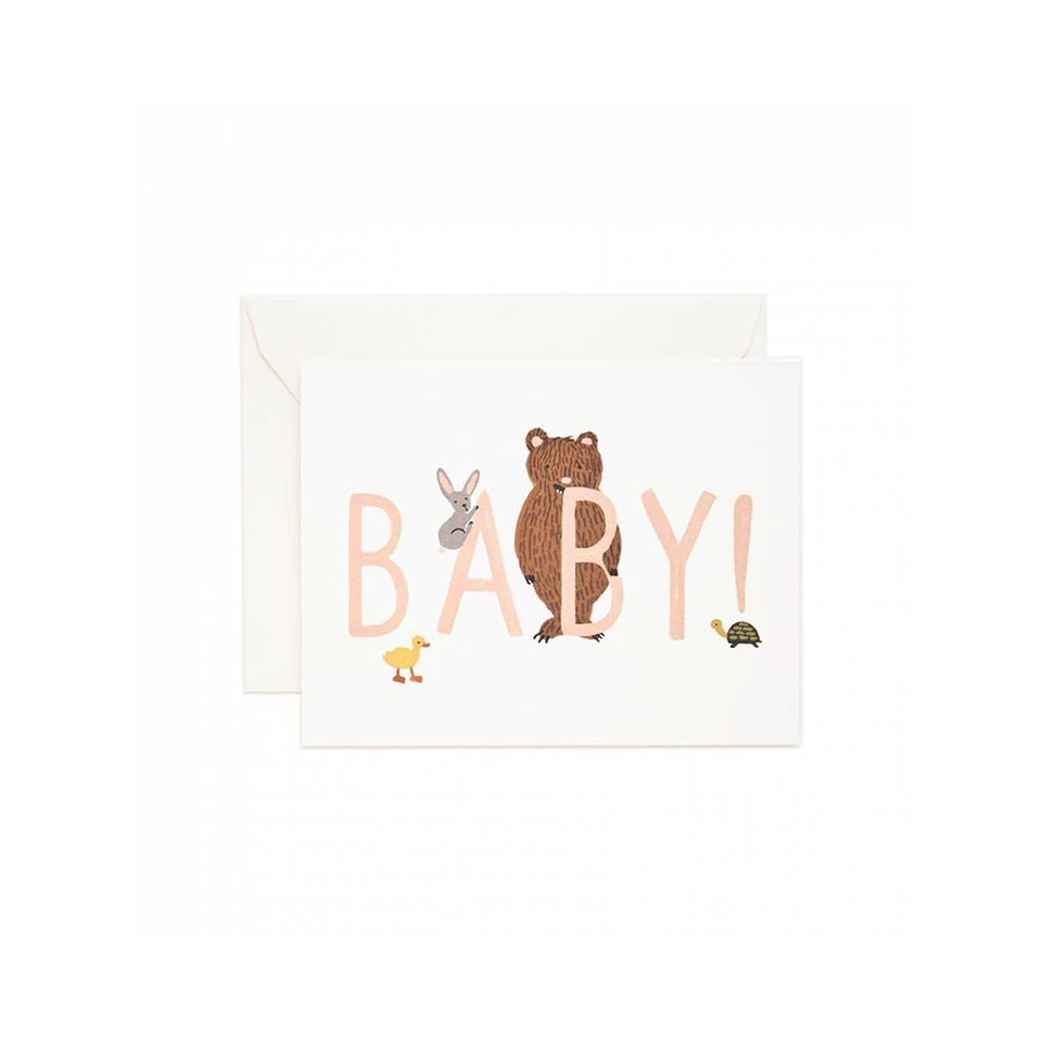 RIFLE PAPER CO. Card - Baby! Peach | the OBJECT ROOM