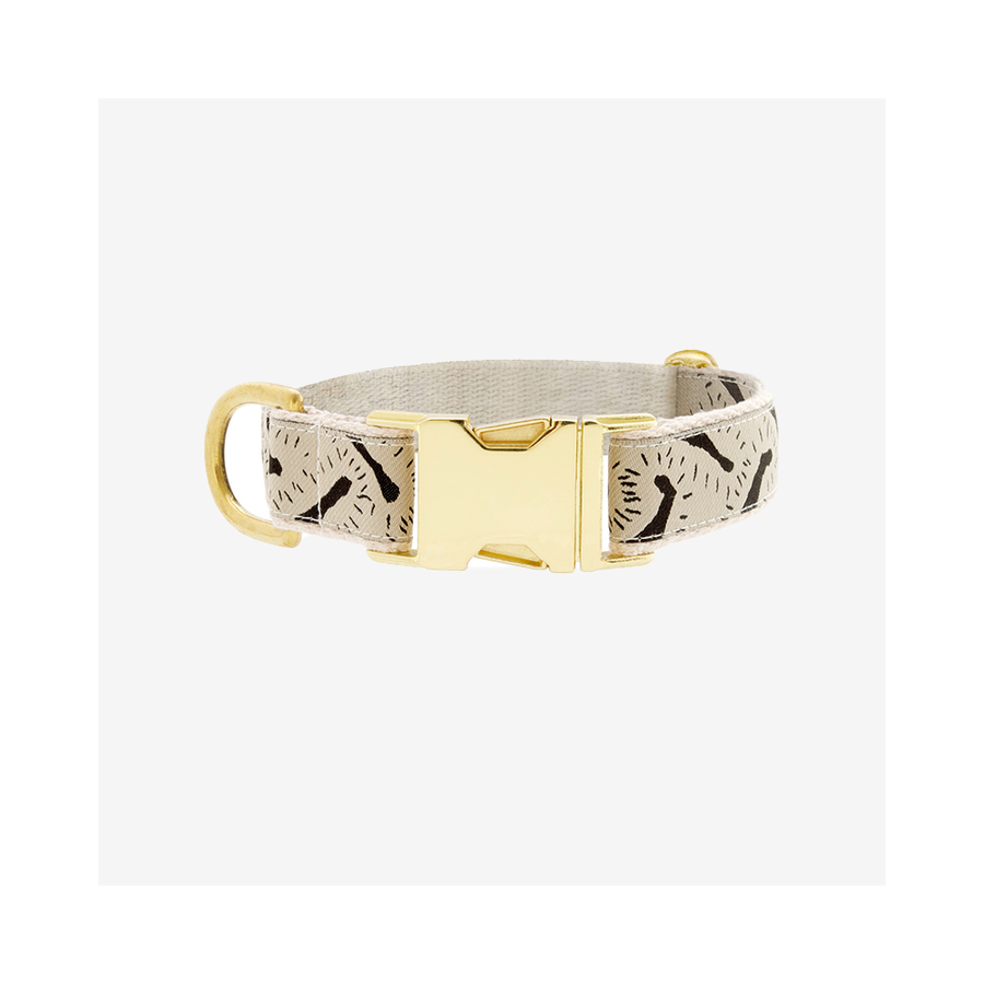 "SEE SCOUT SLEEP Collar 1"" Life Party - Cream x Black 