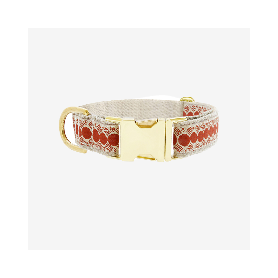 "SEE SCOUT SLEEP Collar 1"" You A Stud - Cream x Rust 