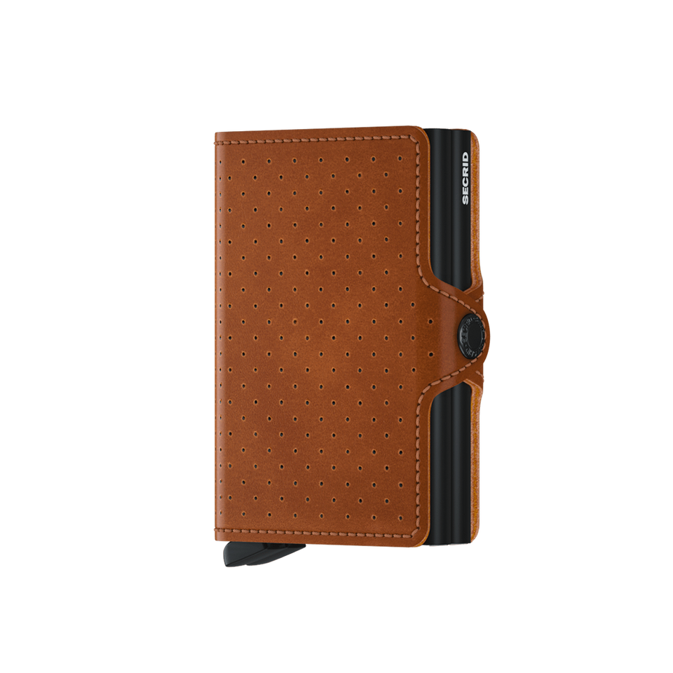 SECRID Twinwallet Leather - Perforated Cognac