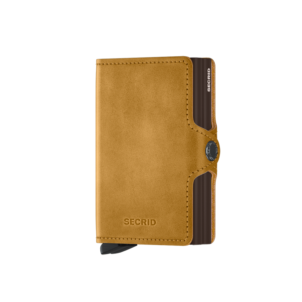 SECRID Twinwallet Leather - Vintage Ochre | the OBJECT ROOM