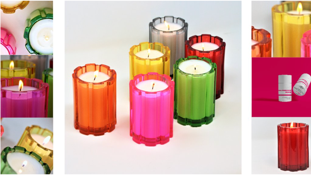 colorful-glass-candls-with-soy-wax-and-cotton-wicks