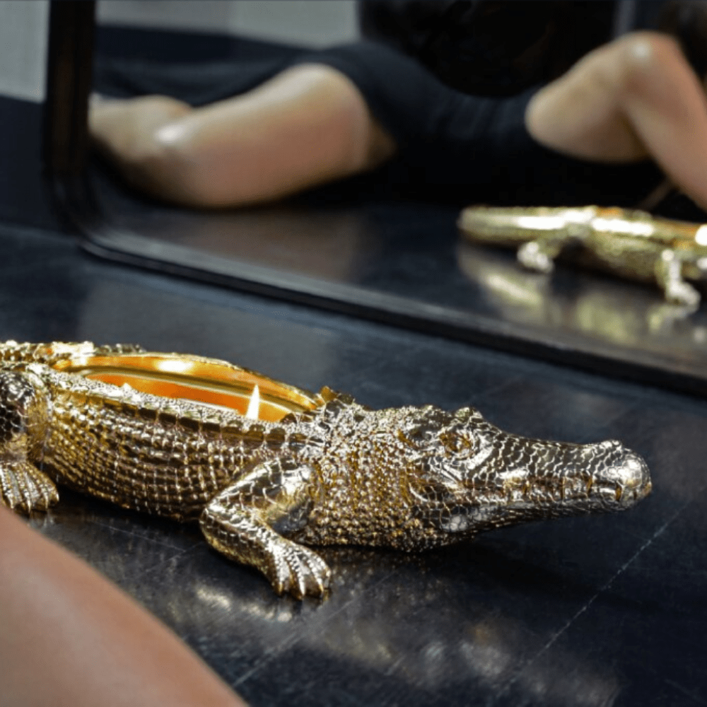 Gold Grand Alligator Candle