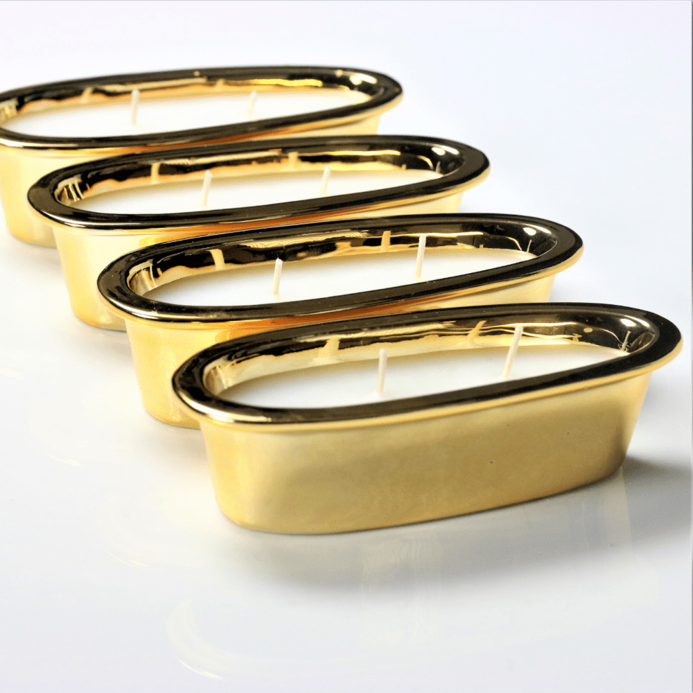 Gold Grand Alligator 2-wick Refill Tray