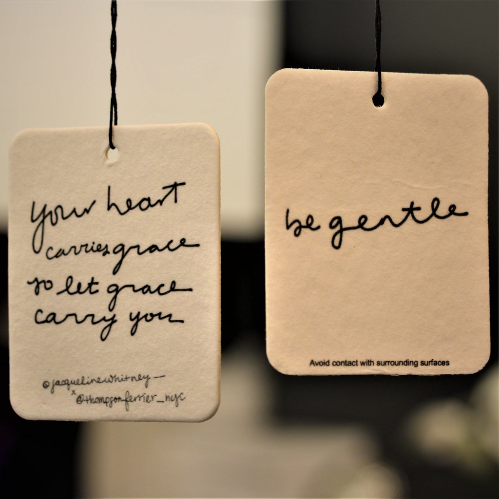 hanging scented air freshener with inspirational quote